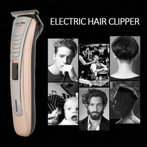 2020 Professional Digital Hair Trimmer Rechargeable Electric Hair Clipper Mens Cordless Haircut Adjustable Blade Clippers noff#