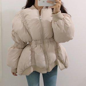 Hot Sale Irregular Women Short parks 2019 Winter Fashion Lantern sleeve Female Outwear Loose Zipper Warm Coat Casual Newest