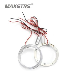 2x 80mm 95mm Car Guide Led Angel Eyes Light Halo Rings DRL Daytime Running Lights Car Headlights Motorcycle HID Xenon Projector