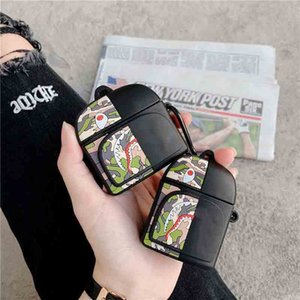 AirPods Pro3 1 2 Backpack Protective Sleeve Case Wireless Bluetooth Headset Cover Fashion Cartoon Pattern Silicone Anti-fall Case