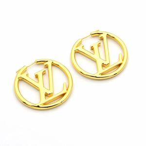 여성 골드 스터드 편지 V 후프 귀걸이 스테인레스 스틸 디자이너 보석 큐브 긴 체인 Earings 패션 파티에 우아한 비쥬 선물