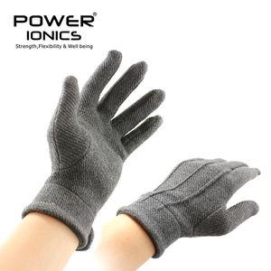 New Power Ionics Homens Mulheres magnéticos luvas de fibra respirável Arthritis Grey Melhorar a circulação sanguínea LJ200924