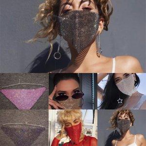 5ofdx маска необработанная маска вырезать модный маскарад наполовину с лазерным шариком Halloween Ball Grinestones Blue Metal Halloween Qhugf