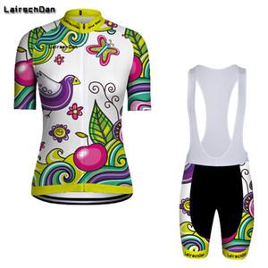 LONG AO LairschDan 2020 grün Radtrikot Frauen gesetzte weibliche Radsportbekleidung Damen Fahrradkleidung pro Uniform mtb Anzug