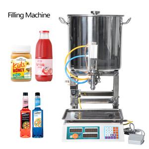 Semi-automatique Pâte Machines de remplissage pneumatique peut miel huile de cuisson Beverage petite bouteille de pesée Machine de remplissage