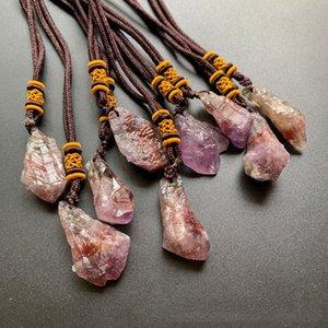 Energia collana naturale Auralite 23 pendente di cristallo grezzo Cristalli guarigione spirituale prime Pietre Collana Ornament Dropshipping