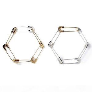AMBUSH 925 Gold Silver Pin Combination Paper Needle Bracelet for Men and Women