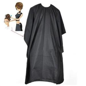 Yapış Kapanış haircutting ile Kuaför Wrap Siyah Kumaş Profesyonel Kuaför Naylon Şal 2057 Su geçirmez Önlük Saç kesimi