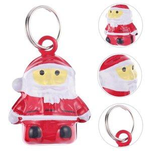 10pcs de Bell de Natal Decoração Acessório Papai Noel Colar Pet delicado de Bell Neck Anel para o telefone Decoração Saco