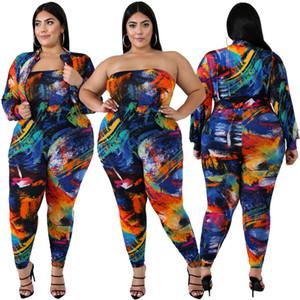Progettista delle donne Body Moda Slim Digital Print tute elasticità femminile sexy pagliaccetti Plus Size Abbigliamento Donna