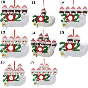 2020 Karantina Noel Doğum Parti Dekorasyon Hediyelik Ürün Persona Pandemik -Sosyal uzaklaşılması-Aile Noel ağacı kolye DIY