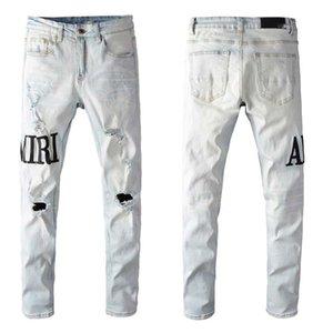 2020 pantalones vaqueros de hombre del diseñador de bolsillo hombre del diseñador de moda los pantalones de los hombres de Distrressed Washed Jeans Masculino Adolescentes Ropa pantalones de mezclilla