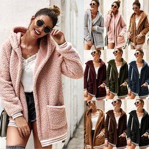 Leather Lamb Fur Coat Women 2020 Fashion Warm Wool Teddy Motorcycle Jacket Ladies Winter Faux Fur Plus Size Coat Overcoat A103