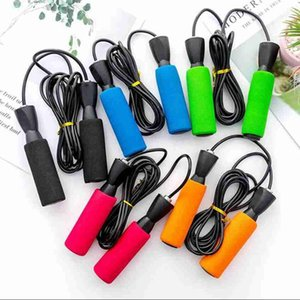 Skipping Jump Rope Adults Foam Handle Jumprope Unisex Student Training Skip Rope Crossfit Fitnesss Equimpment Exercise Workout strap LSK755