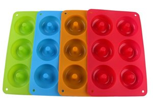 6-cavity Silicone Donut Baking Tray non-stick cake Mold Making Tool Baking non-stick And heat-resistant Reusable