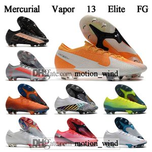 GIFT BAG Mens High Tops Football Boots Mercurial Vapores 13 Elite FG Soccer Shoes CR7 Superfly XIII 360 Neymar Soccer Cleats