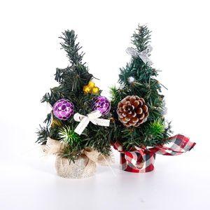 DIY Christmas Gifts Decoration Xmas New Year Mini Artificial Christmas Tree Desktop Ornament Simulation Plant