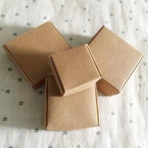 10pcs 8*6*2.2cm Brown cardboard handmade soap box ,White craft paper gift box,Black packaging jewelry box,Small Kraft paper box