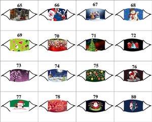 112 Noel Yüz DHL Maske 1 Filtre Noel Moda Yeniden kullanılabilir Toz Partisi ile Noel Baba Elk Erkekler Kadınlar Ağız Maskesi Tasarımları
