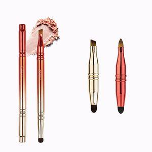 Four-head Retractable Eyeshadow Applicator Portable Makeup Brushes Adjustable Make Up Brush 4 in 1 Eyebrow Lips Brush