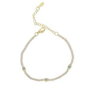 new delicate rainbow cz cuff lucky eye charm bracelet paved tiny sparking shiny CZ stone for women simple Jewelry Party gift