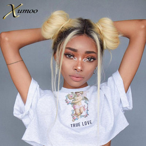 XUMOO Pre-plucked Cheap Remy Hair Body Wave Ombre Blonde Wig Human Hair 360 Lace Frontal Wig Blonde 360 Lace Wigs For Women