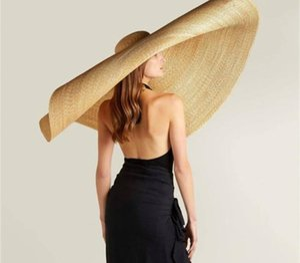 Fashion Lady Straw Hat Women Summer Sun Visor Sunhat Floppy Bucket Cap Oversized Female Hat Straw Beach Anti-UV Protection
