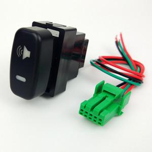 Manejo de la rueda de calefacción Espejo retrovisor Música Calefacción volumen estéreo del coche del ventilador interruptor de botón de alambre para Mitsubishi Pajero Lancer X