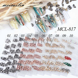 60pcs Mixed Style Strass Nail Rhinestones Design For Nails Art Decorations Crystal Glass Charms Partition Nail Accessories Set