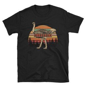 Урожай Якобы Страус Ретро рубашка - Страус Lover подарков Футболка Новый мужской Смешной Tops футболочку