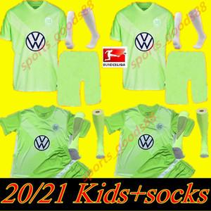 20 21 Kit Kit VLL Wolfsburg Heimtrikot Wehhors Soccer Jerseys 2020 21 Klaus Malli Steffen Mehmedi Roussillon Brooks Arnold Brekalo Football