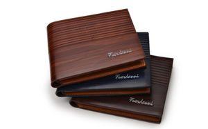 black brown gentleman Men's short wallet waterproof, multi-function zipper wallet, multi-card retro ID card holder
