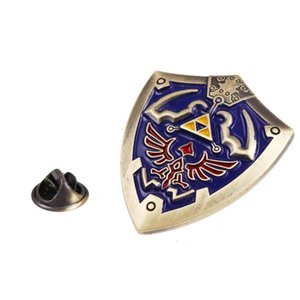 Vintage Styles The Legend of Zelda Brooch Enamel Pin Triforce Shield Brooches Pins Badge Halloween Wedding Accessories