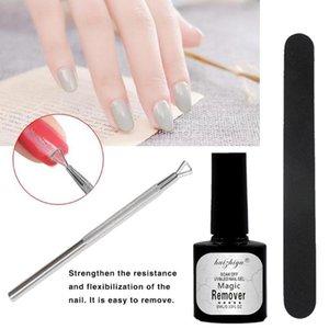 Professional Magic Nail Polish Remover Set Soak Off Nail Gel Polish Files Cuticle Pusher Art Cleaning Tools