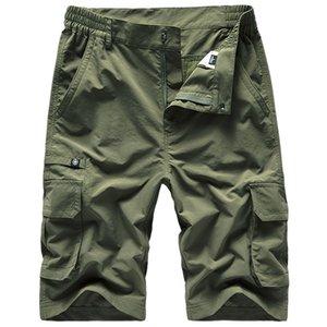 Summer Men's Thin Shorts Multi-pockets Large Size Beach Shorts Leisure Loose Quick-Dry Bermuda Hiking Fishing Sports Pantalones