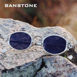 Clássico gótico de Steampunk do estilo dos óculos de sol do punk rock BANSTONE Vintage Hip Hop ins Brand Design Sun Glasses