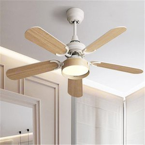 Postmodern Retro Wood Led Ceiling Fan Light Fashion Art Design Coffee Shop Restaurant Bedroom Baking Studio Fan Lighting