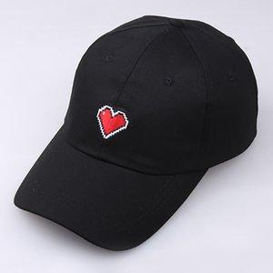 Женщины Девушки Черный Простой Сладкой Вышитой Red Love Lace бейсболка 2020 Женщины Мужчина Женщина H # T1p