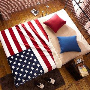 American Flag flanela velo Sherp lançar cobertor Bandeira britânica quente e macio cobertores no sofá / cama de viagem Grosso Inverno Plaid Colcha