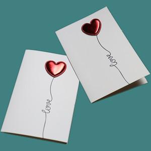 Coração amor Cartões Diy Envelope Cartão de Dia dos Namorados convites do casamento cartão postal Eu te amo cartão Pulsação Confession