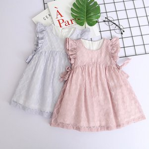 Clearance Excelent New summer Mesh Toddler Kids Baby Girls Clothes Chiffon Bowknot Party Pageant Princess Dress Z0205EYLJ Deals