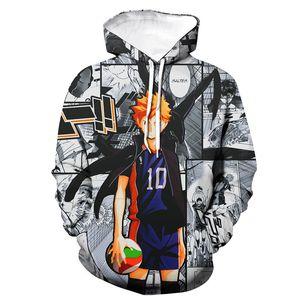 2020 Hoodies Anime Style Hooded Sweatshirt Haikyuu 3D Printed Men Women Hip Hop Pullover Hoodie Sports Casual Cosplay Top Unisex LJ200918