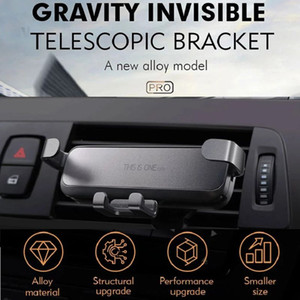 new trending phone holder one pro Gravity linkge Mini portable car air vent contractile phone mount with retail package