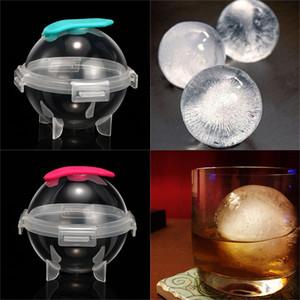 Round silicone Hockey sur glace moule en plastique Creative Whisky Cocktail Ice Cube Maker boule Moisissures Kitchen Bar Supplies potable VT1584