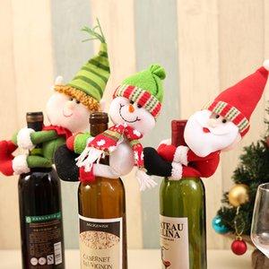 Рождество бутылки вина Обложка Hugger Holder Санта снеговика Посуда Рождество Новый год Украшение для упаковки подарков JK2009XB