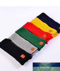 Hot Fashion Lovely Autumn Winter Boys Girls Baby Kid Solid Scarf Warm Knitted Scarves Women Scarf TO926