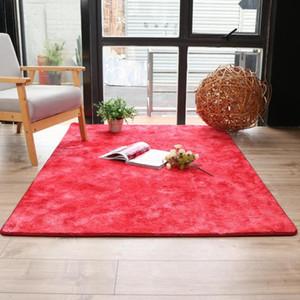 Hairy fluffy soft living room gradient color carpet bedroom bay window cushion bathroom dressing room absorbent carpet mat
