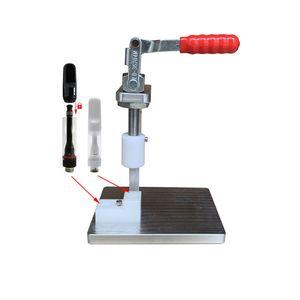 Hand Press Machine for 0.5 1ml Full ceramic Vape Cartridges Manual Compressor mandrel presser for thick oil 510 thread Vape Pen carts