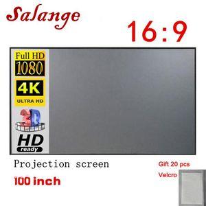 VIP 100 pulgadas de pantalla de proyector Salange, reflexivo paño de la tela Para YG300 J15 XGIMI H2 HALO Mogo Proyector DLP