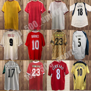 85 86 DALGLISH RUDDOCK MENS RETRO SOCCER JERSEYS 93 97 Fowler Redknapp Wright Wright McManaman 04 10 Gerrard Torres Mascherano Football Shirt 1